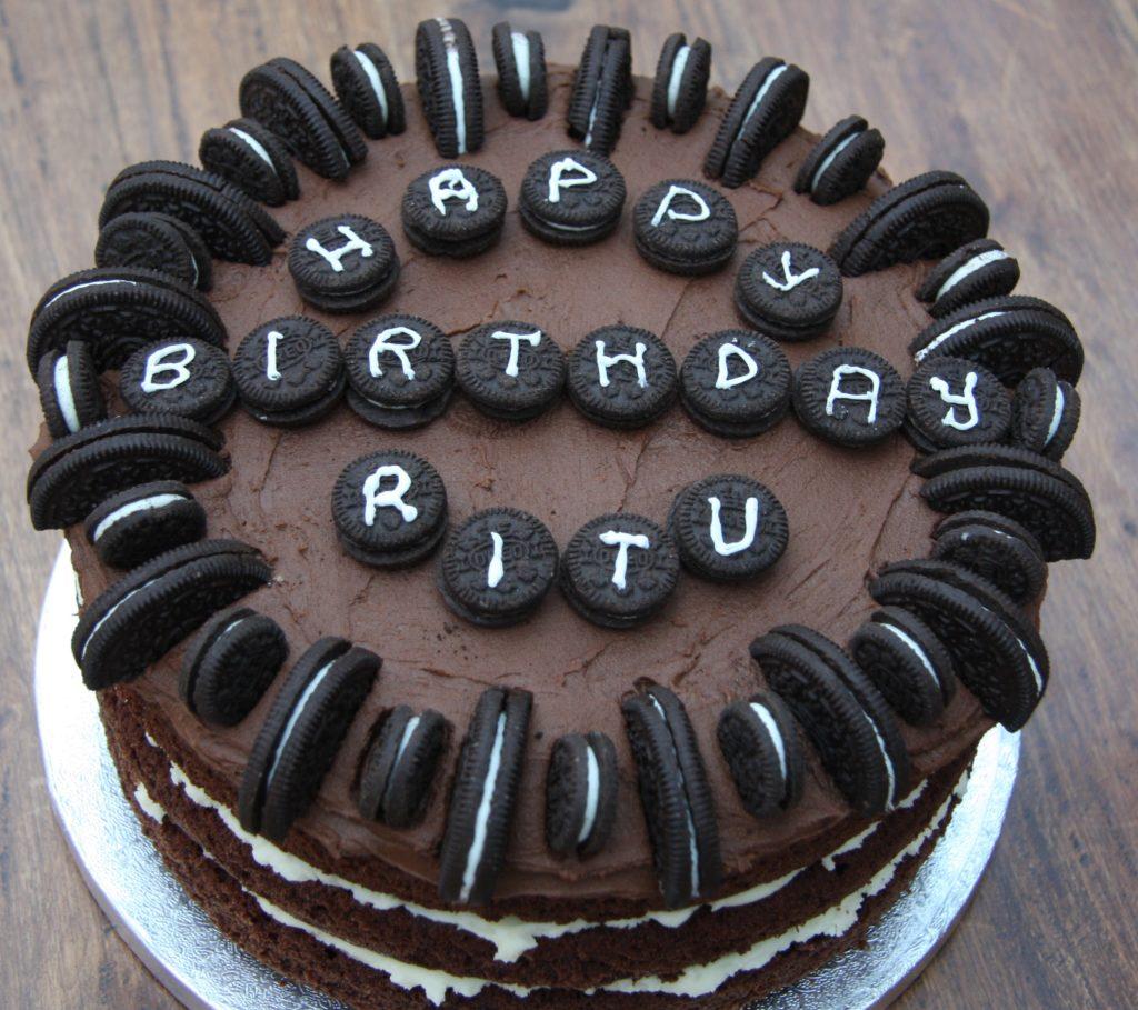 Чем писать на торте в домашних условиях - печеньем - фото