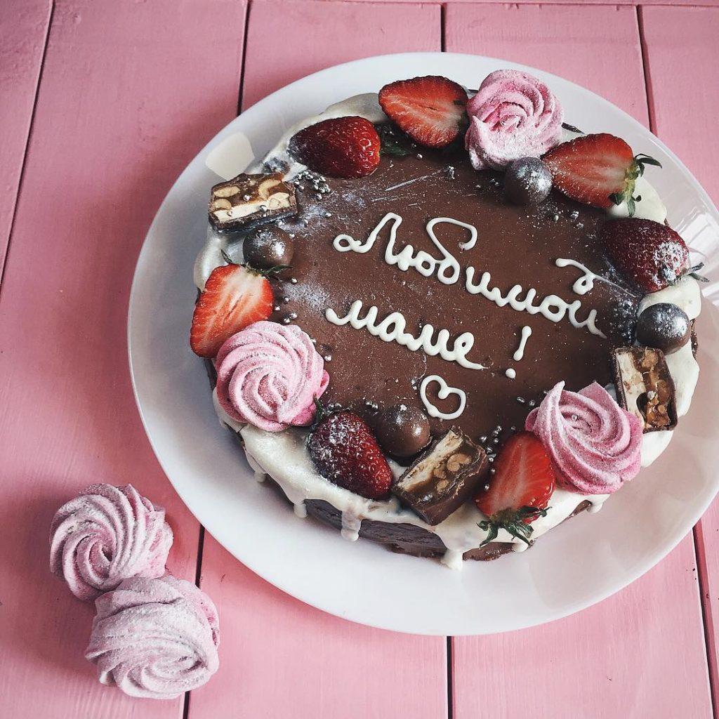 Чем писать на торте в домашних условиях - кремом - фото