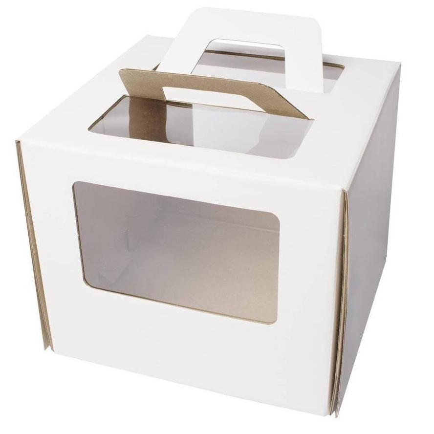 Как упаковать торт - крафт-коробка - фото