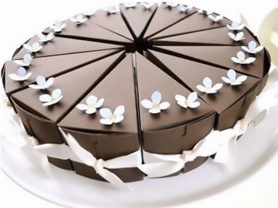 Как упаковать торт - упаковка по кусочкам - фото