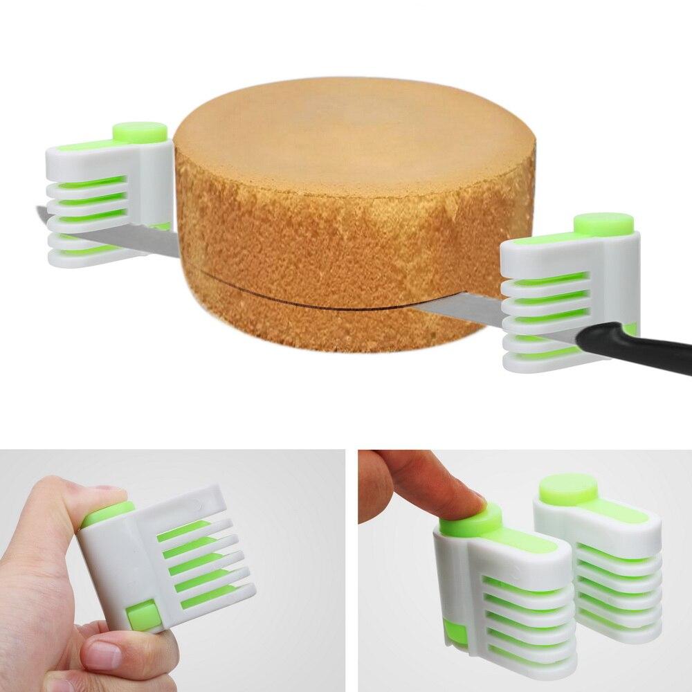 Как ровно разрезать бисквит на коржи с зажимами - фото