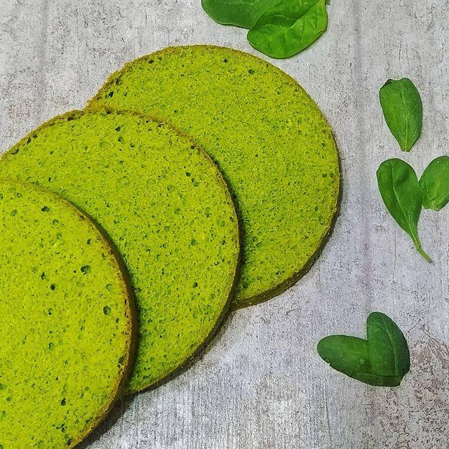Натуральные красители для бисквита - зеленый, шпинатный - фото