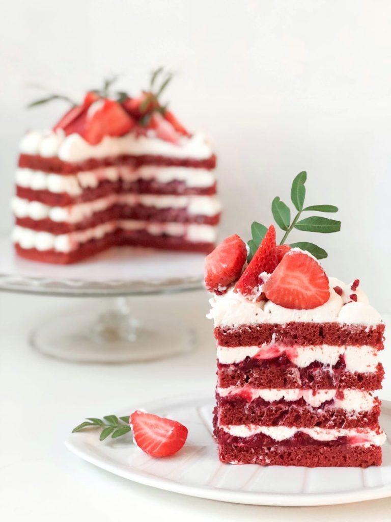 Натуральные красители для бисквита - красный - фото