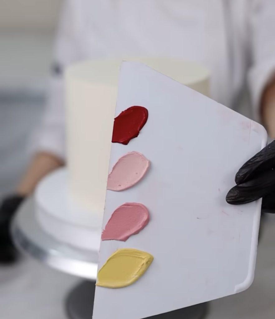 Как правильно покрасить крем чиз - разные цвета - фото