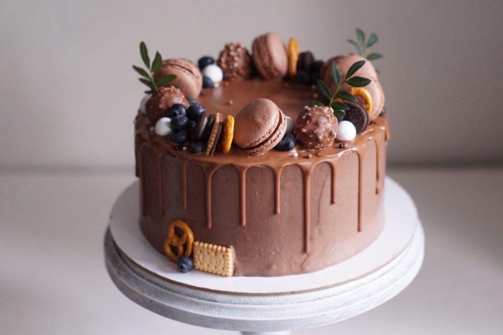 Как растопить шоколад для украшения торта - фото