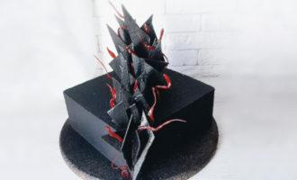Как сделать черный крем для торта - фото
