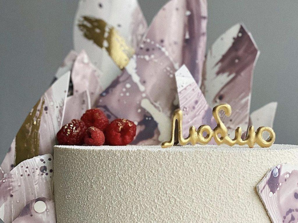 Буквы из шоколада для торта своими руками  - фото
