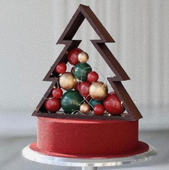 Как сделать шары из шоколада для украшения торта - фото