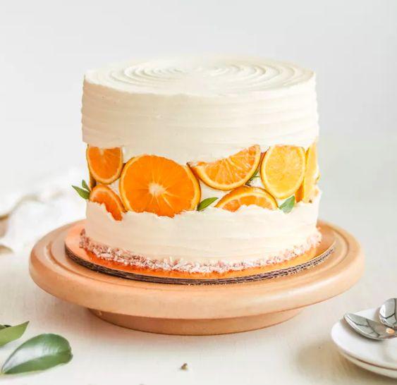 Как украсить торт фруктами  -  24 вариант - фото