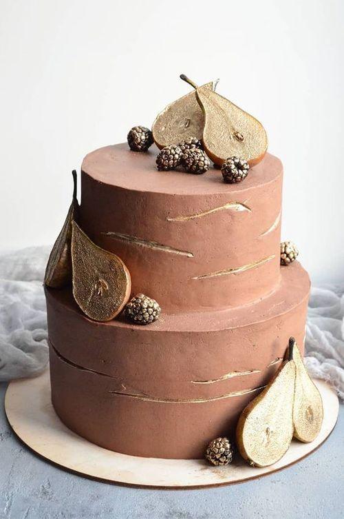 Как украсить торт фруктами  -  25 вариант - фото