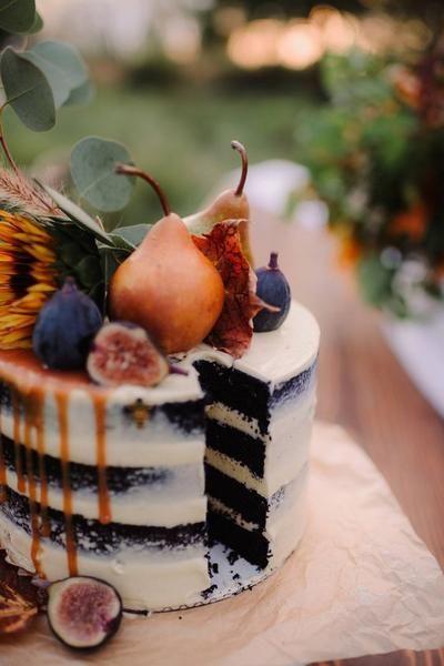 Как украсить торт фруктами  -  26 вариант - фото