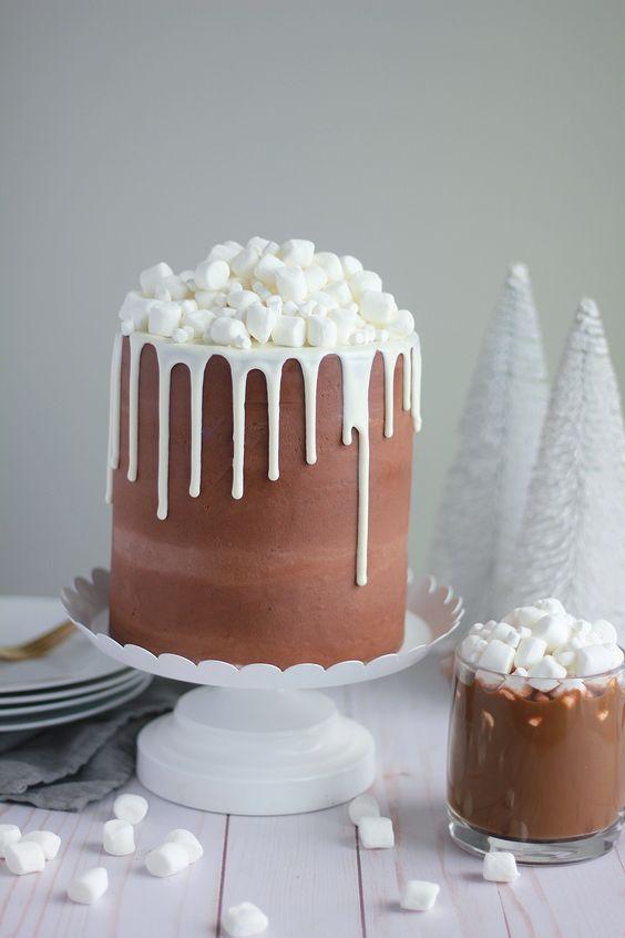 Как украсить торт маршмеллоу - фото