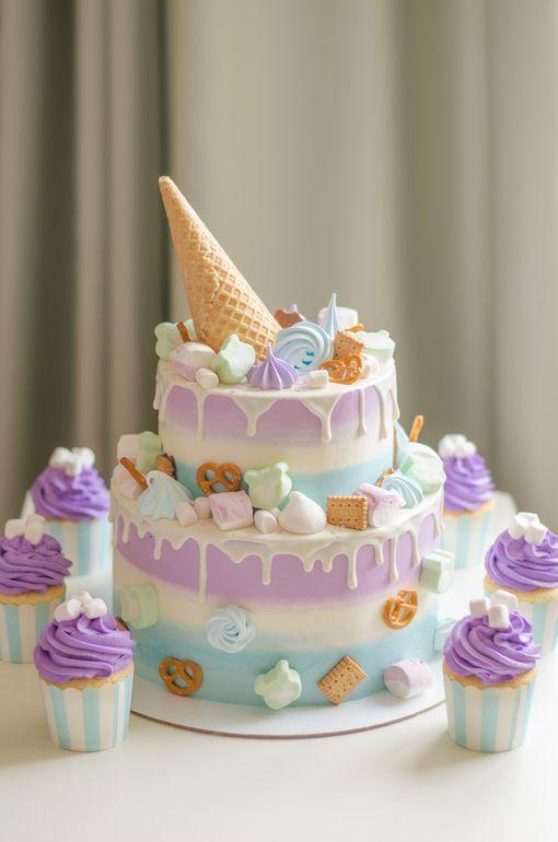 Как украсить торт маршмеллоу - ярусные торты - фото