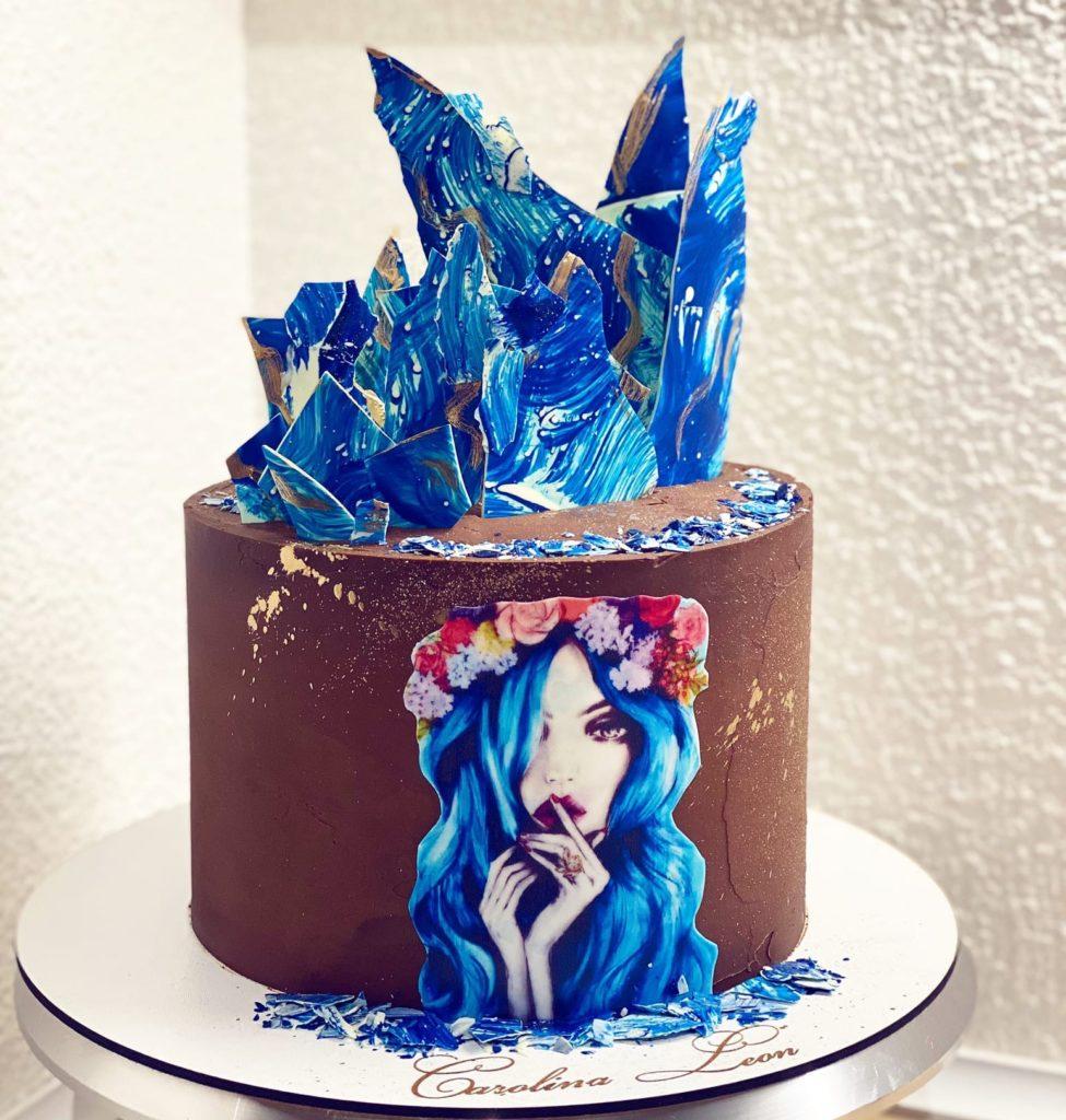 Как прикрепить вафельную картинку к боковине торта - фото