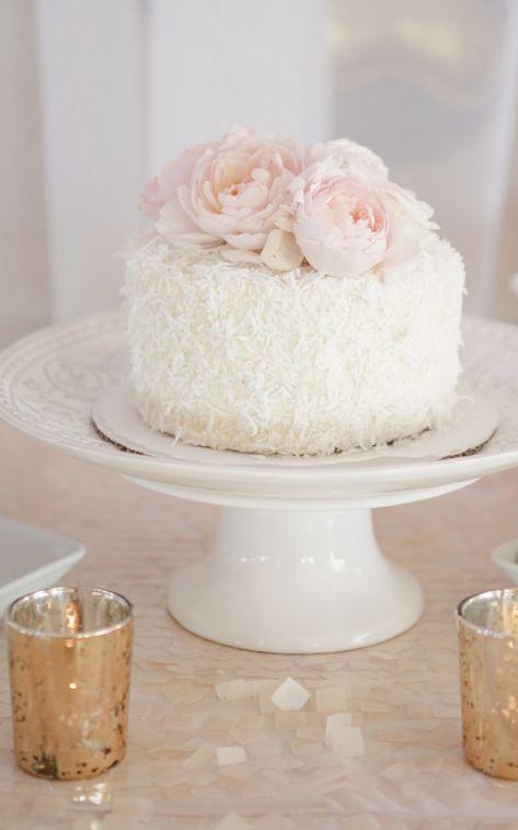 Украшение торта кокосовой стружкой - фото