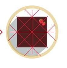 Как разрезать прямоугольный торт - треугольниками - фото