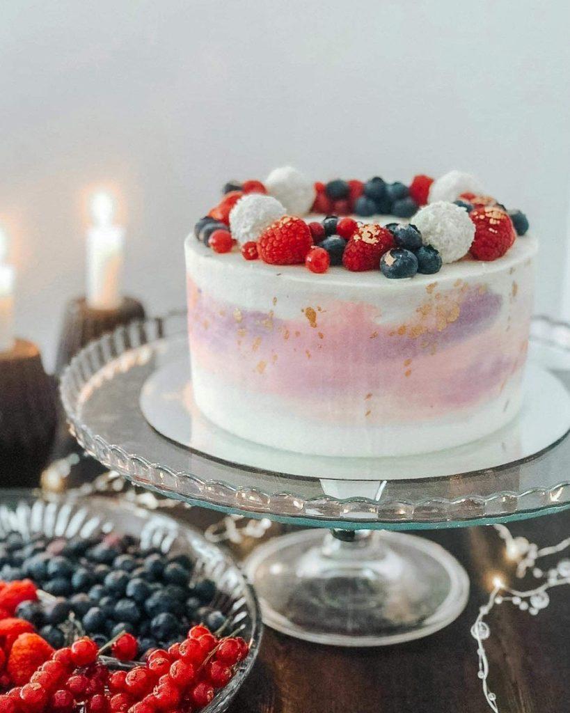 Как украсить торт шоколадками и конфетами - с рафаэлло - фото